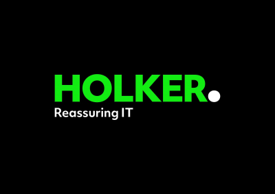 Holker IT logo. Reassuring IT strapline