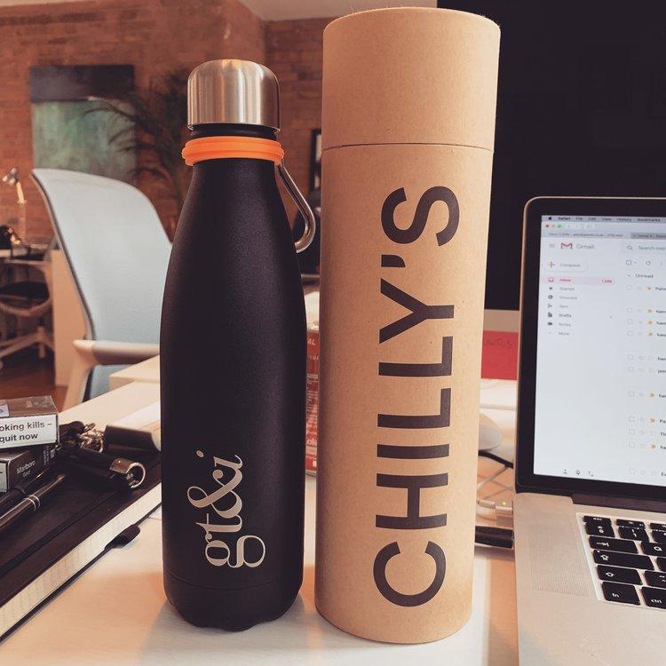 gt&i Chilli's water bottle